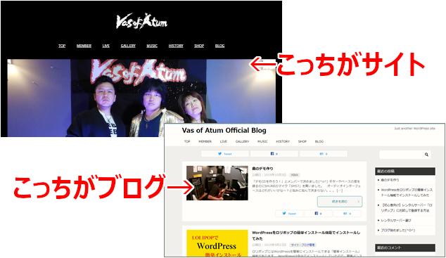 ブログとサイト